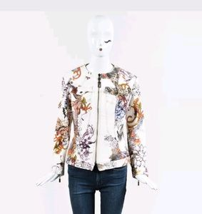 Just cavalli white denim jacket - LARGE